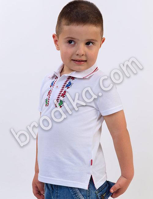 Детска тениска с яка 2