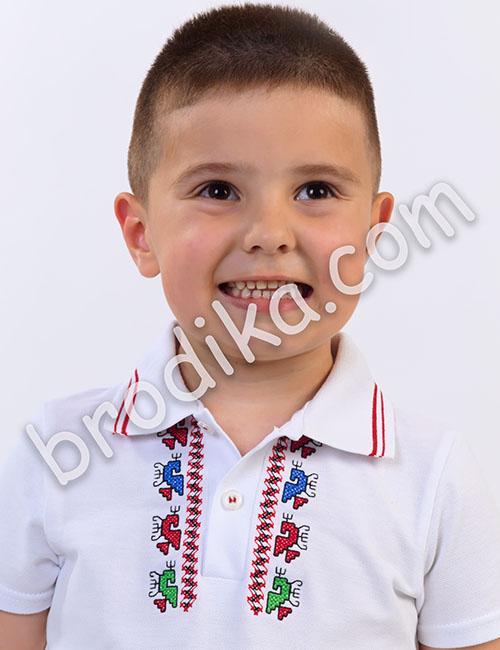 Детска тениска с яка 1