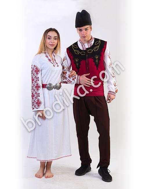 "Дамска дълга шопска риза ""Гайтана"" 2"
