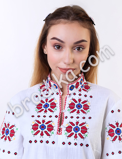 Дамска риза къс ръкав