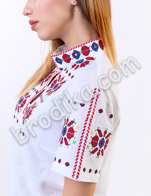 """Дамска тракийска риза с къс ръкав """"Чародея"""" 3"""