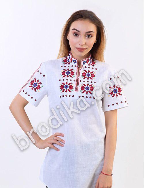"""Дамска тракийска риза с къс ръкав """"Чародея"""" 1"""