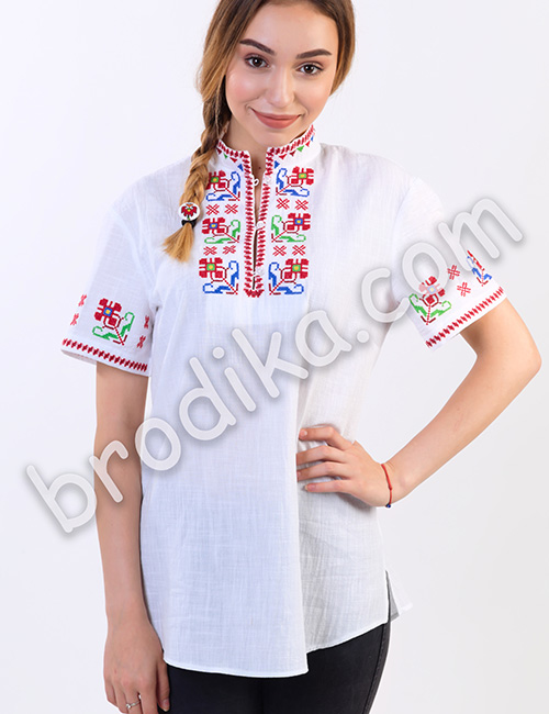 """Дамска тракийска риза с къс ръкав """"Зора"""" 5"""