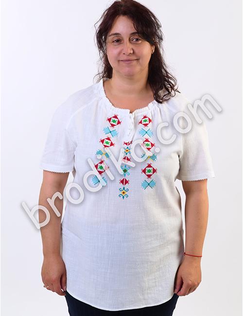 """Дамска риза с къс ръкав """"Яблена"""" 1"""