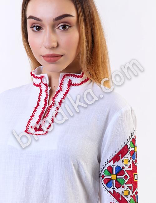"""Дамска дълга шопска риза с дантела """"Щедра"""" 3"""