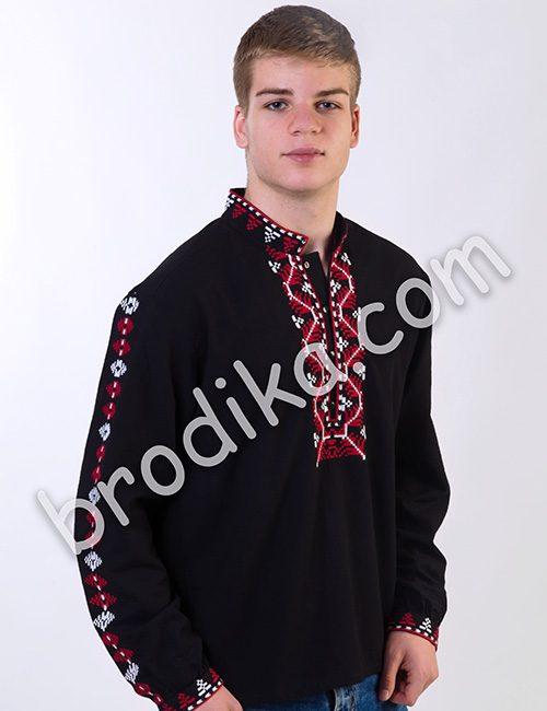 Мъжка шопска риза черна