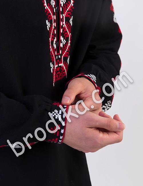 """Мъжка черна шопска риза """"Багрян"""" 2"""