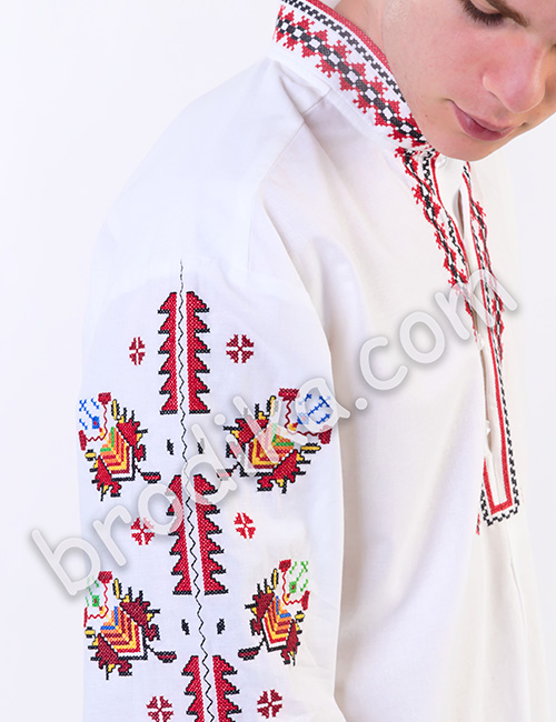 """Мъжка тракийска риза """"Преслав"""" 3"""