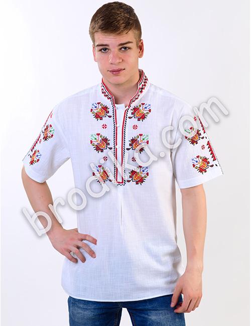 Мъжка тракийска риза къс ръкав