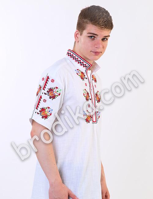 """Мъжка тракийска риза с къс ръкав """"Радослав"""" 1"""