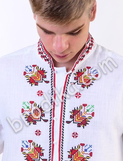 """Мъжка тракийска риза с къс ръкав """"Радослав"""" 2"""
