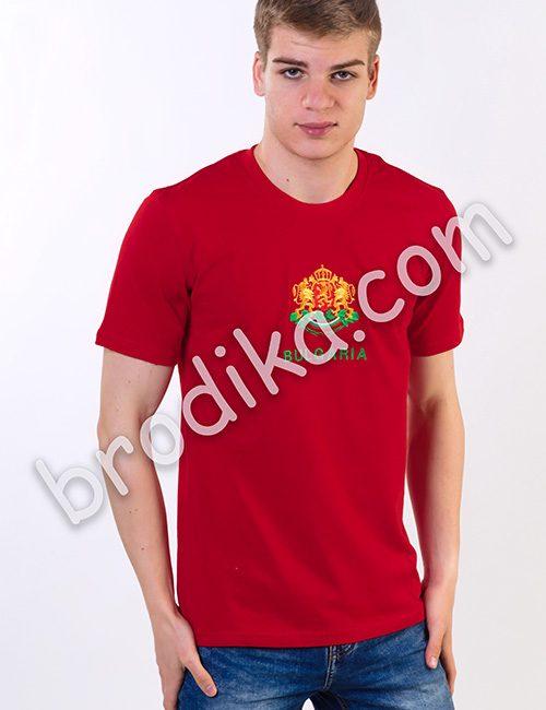 Тениска с герб (червена)