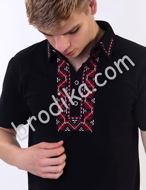 Тениска с шефица (черна)