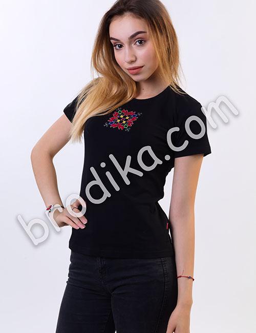 """Дамска тениска с къс ръкав """"Кръстелина"""" 1"""