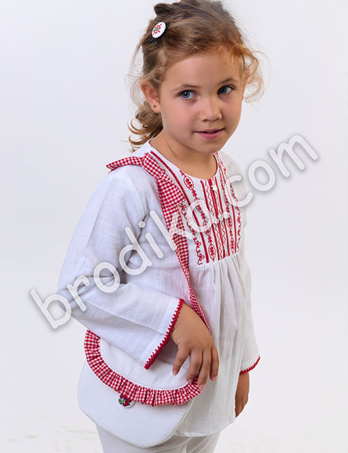 "Детска чанта с кариран волан ""Калина"" 2"