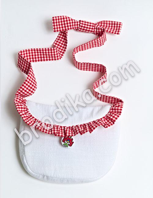 "Детска чанта с кариран волан ""Калина"" 1"