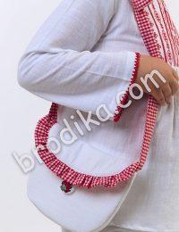 "Детска чанта с кариран волан ""Калина"""