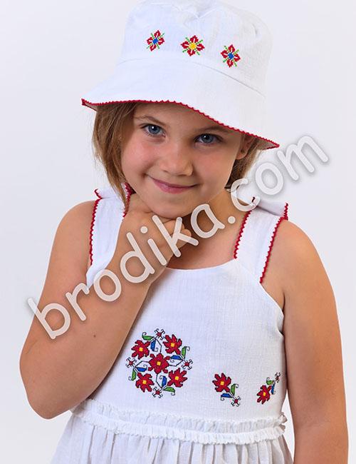 "Детска шапка с периферия ""Царица"""