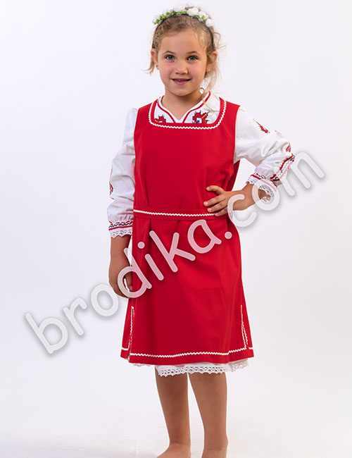 """Детски комплект от сукман и дълга риза """"Косара"""""""
