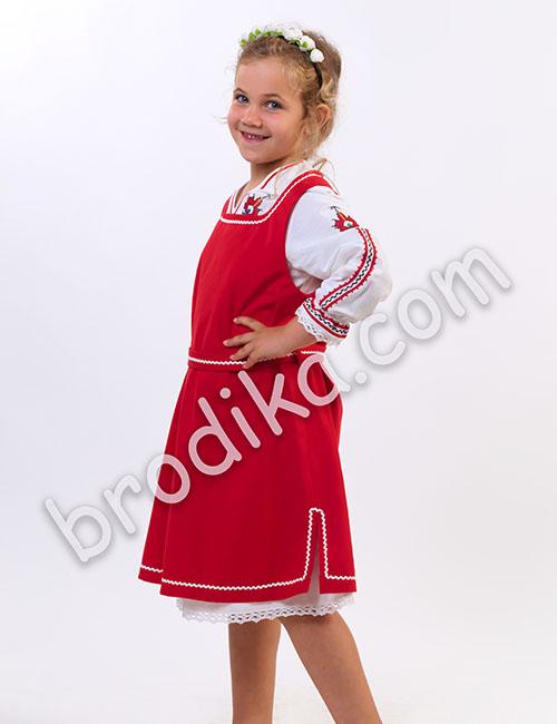 """Детски комплект от сукман и дълга риза """"Косара"""" 3"""