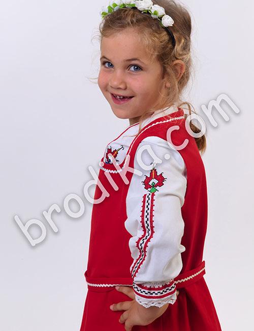 """Детски комплект от сукман и дълга риза """"Косара"""" 2"""