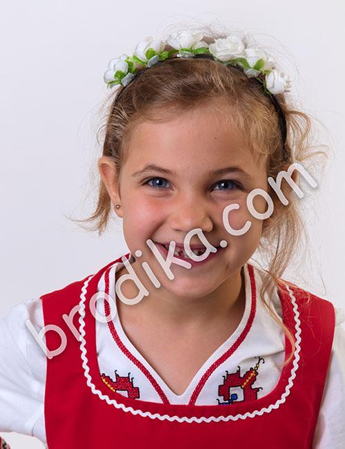 """Детски комплект от сукман и дълга риза """"Косара"""" 1"""
