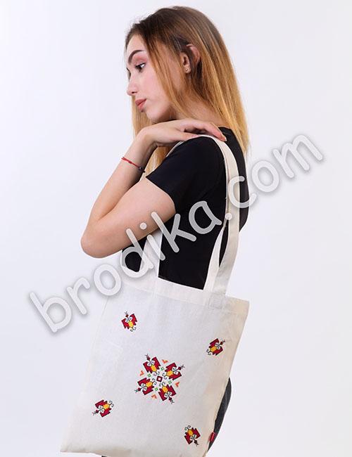"""Текстилна чанта """"Слънчева Елбетица"""" 2"""