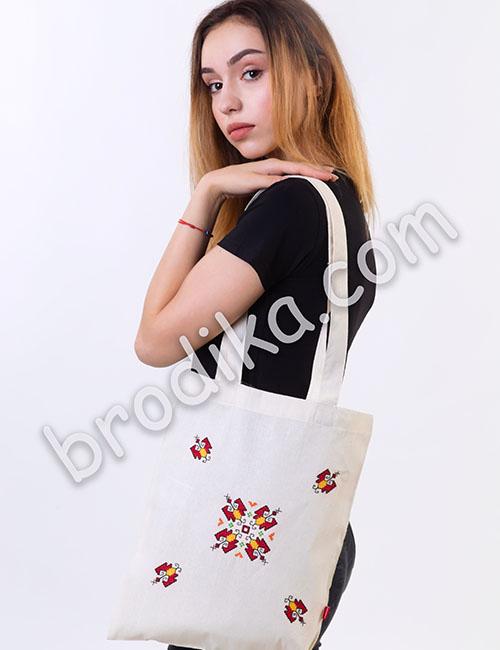 """Текстилна чанта """"Слънчева Елбетица"""" 1"""