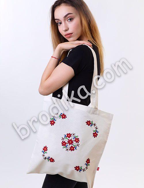 """Текстилна чанта """"Кръговрат на живота"""""""