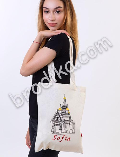 """Текстилна чанта """"Руска църква"""""""
