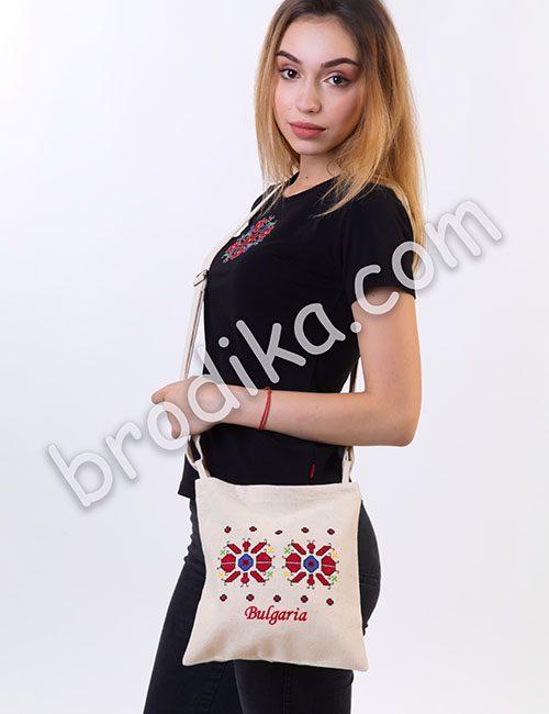 Текстилна чанта с регулируема дръжка