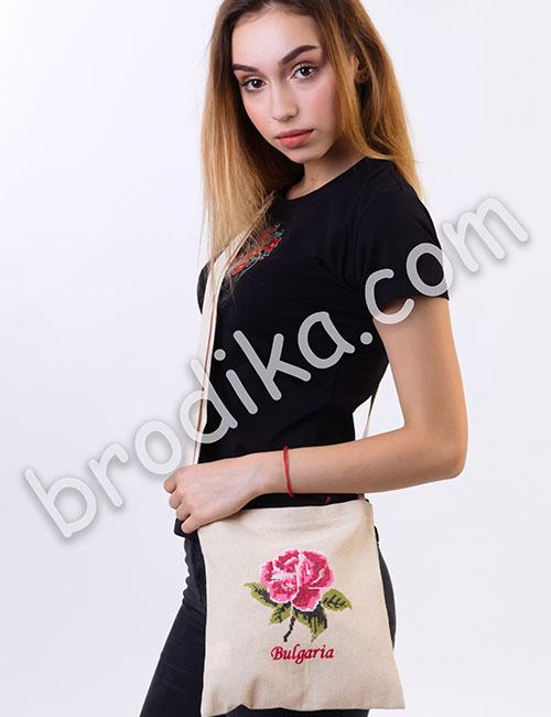 Текстилна чанта с регулируема дръжка 2