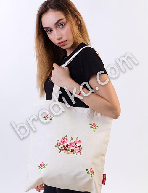 """Текстилна чанта """"Кошница с Рози"""""""
