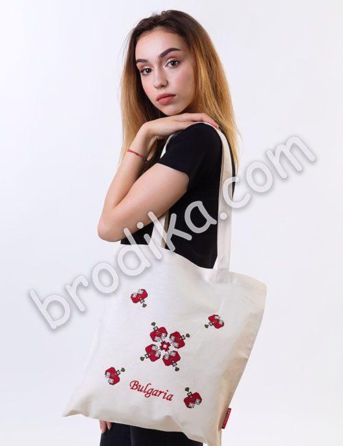 """Текстилна чанта """"Шопска свиленица"""""""