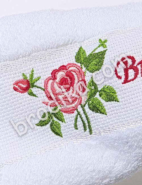 """Хавлиена кърпа 30/50см, Колекция """"С аромат на рози"""""""
