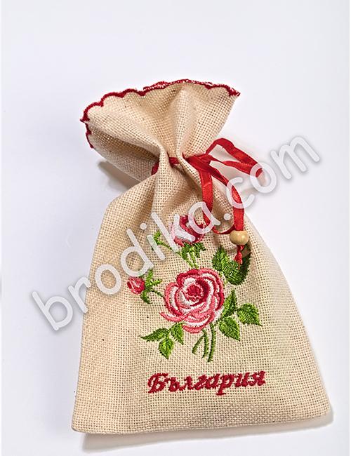 """Подаръчна торбичка от Колекция """"С аромат на рози"""" 1"""