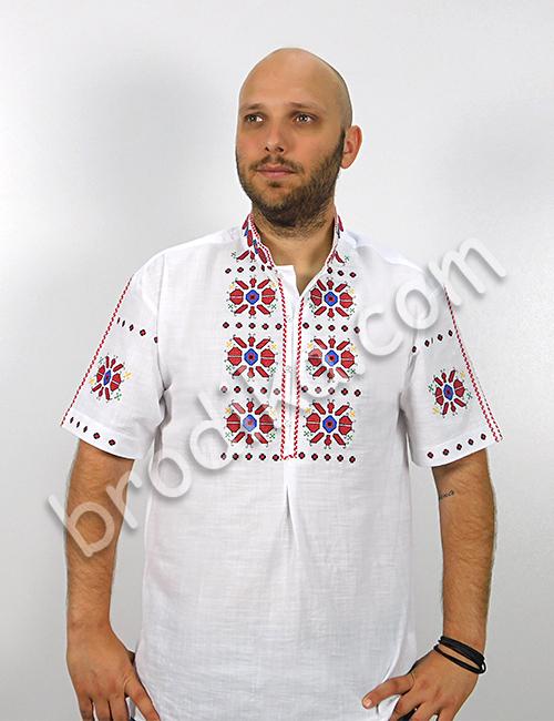 """Мъжка тракийска риза с къс ръкав """"Богой"""" 7"""
