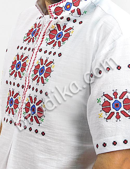 """Мъжка тракийска риза с къс ръкав """"Богой"""" 3"""