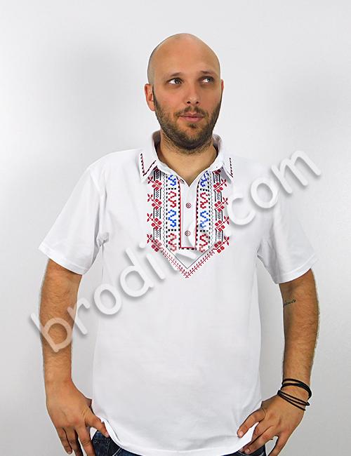 """Мъжка тениска с яка и шопски шевици """"Йован"""" 4"""