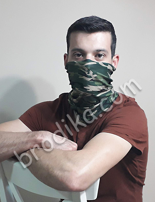 "Трислойна предпазна маска за лице ""Камуфлаж"" 2"