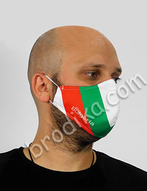 "Трислойна предпазна маска за лице ""Знамето ни е трицветно"" 2"