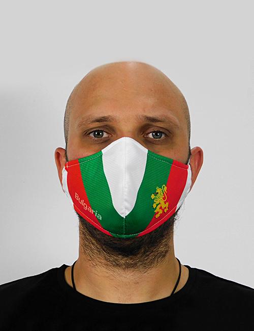"Трислойна предпазна маска за лице ""Знамето ни е трицветно"" 6"