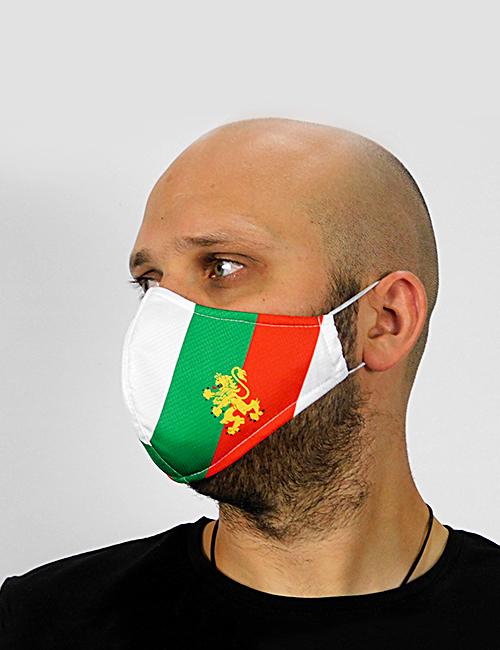 "Трислойна предпазна маска за лице ""Знамето ни е трицветно"" 3"
