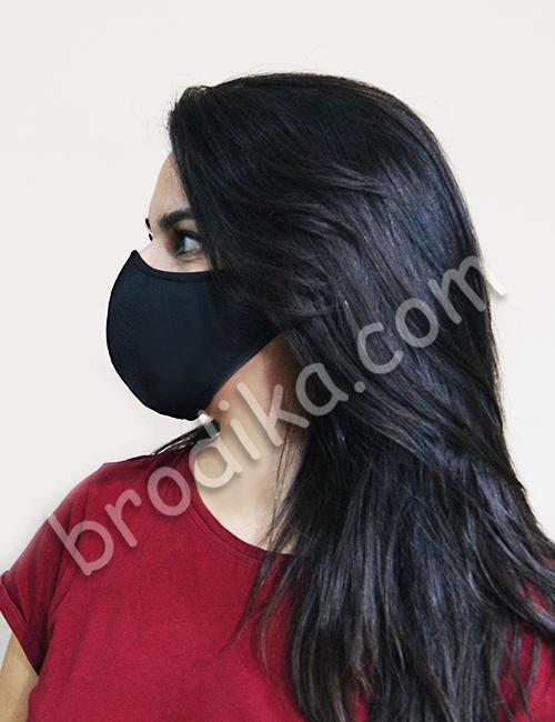 Едноцветна трислойна предпазна маска за лице 4