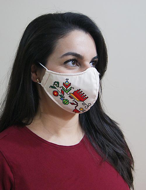"""Трислойна предпазна маска за лице """"Дървото на живота"""" 4"""
