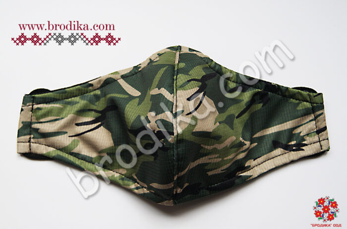 "Трислойна предпазна маска за лице ""Камуфлаж"" 1"