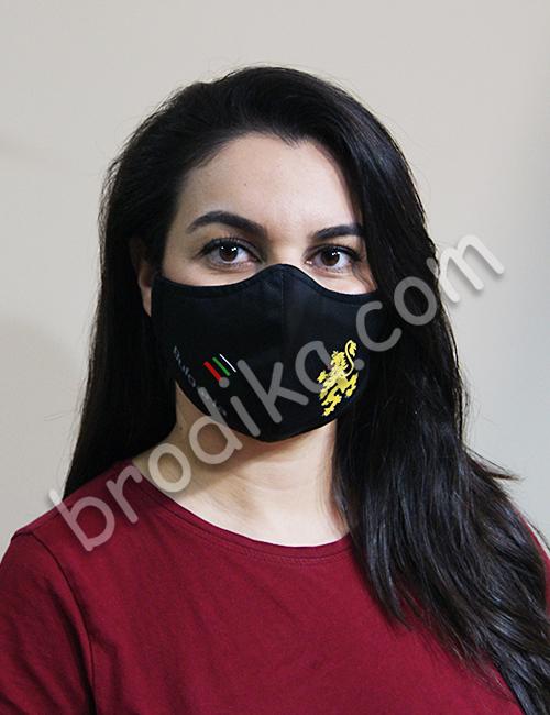 """Трислойна предпазна маска за лице """"Златен Български Лъв"""" 1"""