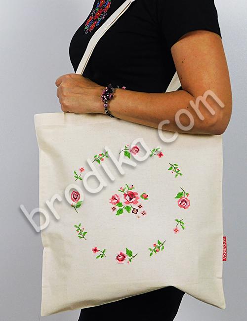 """Текстилна чанта """"Венец от рози"""" 2"""