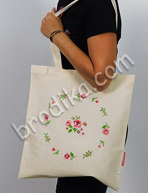 """Текстилна чанта """"Венец от рози"""" 15"""
