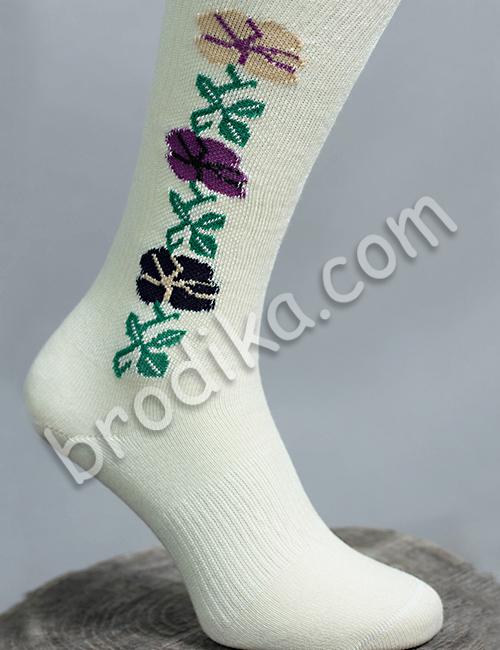 """Дамски чорапи """"Цъфнало цвете шарено"""" 2"""